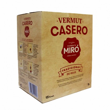 Bag in box Vermut Casero Miró 5L